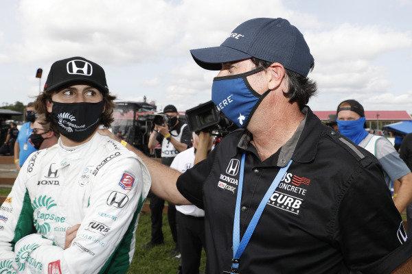 Winner #88: Colton Herta, Andretti Harding Steinbrenner Autosport Honda, with dad Bryan