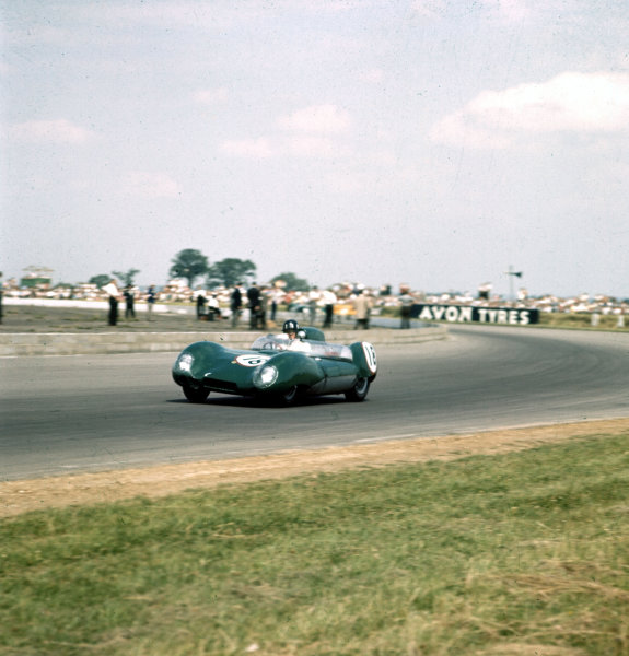 1958 British Grand Prix.Silverstone, England.19 July 1958.Graham Hill (Lotus).Ref-3/0098.World Copyright - LAT Photographic
