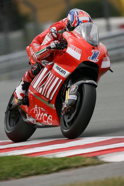 Sachsenring, Hohenstein-Ernstthal, Germany.12th July 2008.MotoGP Qualifying.Casey Stoner Marlboro Ducati Team.World Copyright: Martin Heath / LAT Photographicref: Digital Image BPI_Moto 5d6d
