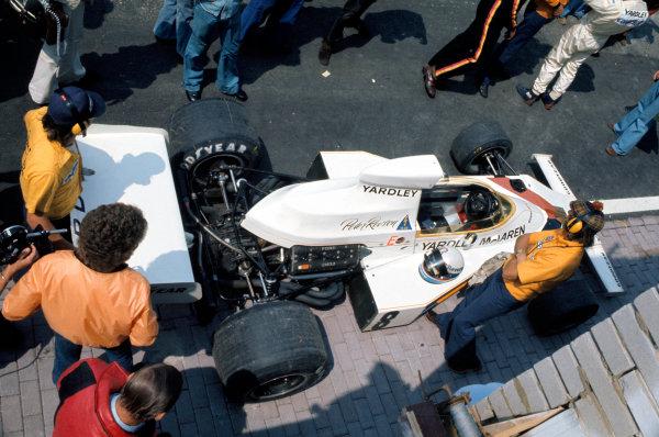 1973 Dutch Grand Prix.Zandvoort, Holland. 29 July 1973.Peter Revson (McLaren M23-Ford), 4th position.World Copyright: LAT Photographicref: 35mm Transparency Image