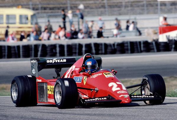 1983 Dutch Grand Prix.Zandvoort, Holland.26-28 August 1983.Patrick Tambay (Ferrari 126C3) 2nd position.Ref-83 HOL 35.World Copyright - LAT Photographic