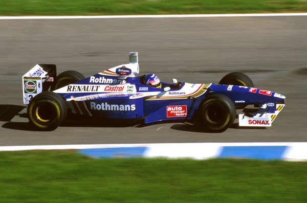 Jerez, Spain.24-26 October 1997.Jacques Villeneuve (Williams FW19 Renault) 3rd position.Ref-97 EUR 14.World Copyright - LAT Photographic