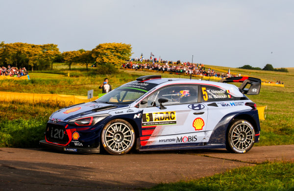 2017 FIA World Rally Championship, Round 10, Rallye Deutschland, 17-20 August, 2017, Thierry Neuville, Hyundai, action, Worldwide Copyright: McKlein/LAT