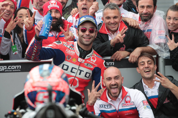 2017 MotoGP Championship - Round 15 Motegi, Japan. Sunday 15 October 2017 Third place Danilo Petrucci, Pramac Racing World Copyright: Gold and Goose / LAT Images ref: Digital Image 22341