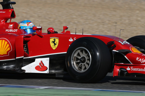 Fernando Alonso (ESP) Ferrari F14 T. Formula One Testing, Jerez, Spain, Day Three, Thursday 30 January 2014.