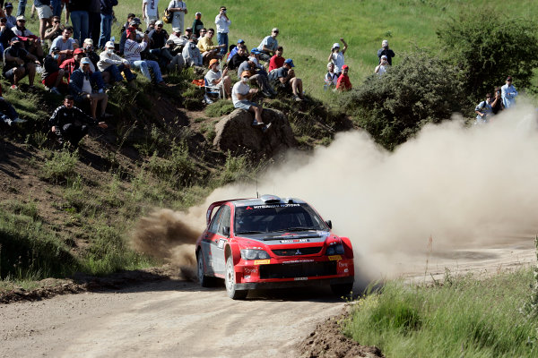 2005 FIA World Rally Champs. Round eightAcropolis Rally 23rd - 26th June 2005 Harri Rovanpera, Mitsubishi, Action.