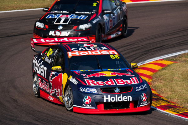 2017 Supercars Championship Round 6.  Darwin Triple Crown, Hidden Valley Raceway, Northern Territory, Australia. Friday June 16th to Sunday June 18th 2017. Jamie Whincup drives the #88 Red Bull Holden Racing Team Holden Commodore VF. World Copyright: Daniel Kalisz/LAT Images Ref: Digital Image 160617_VASCR6_DKIMG_1487.JPG