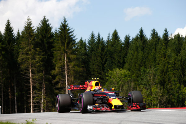 Red Bull Ring, Spielberg, Austria. Friday 7 July 2017. Max Verstappen, Red Bull Racing RB13 TAG Heuer. World Copyright: Andrew Hone/LAT Images ref: Digital Image _ONZ9897