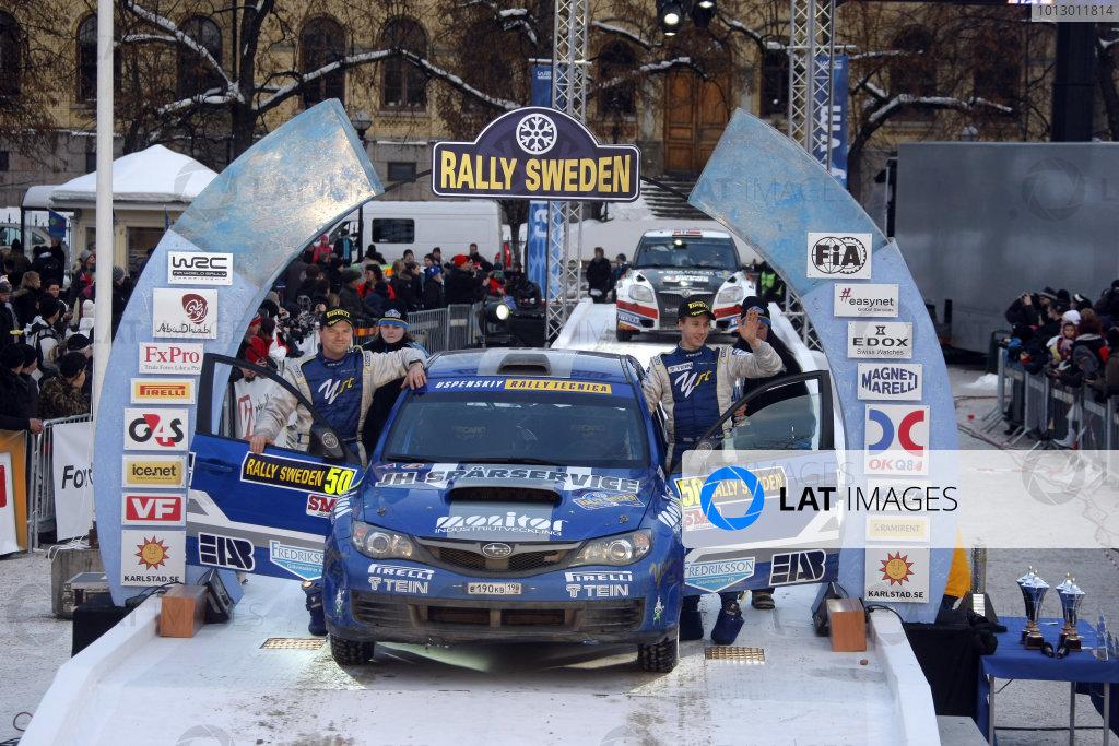 2010 FIA World Rally ChampionshipRound 01Rally Sweden 11-14 February 2010Patrik Flodin, Subaru PWRC, PodiumWorldwide Copyright: McKlein/LAT