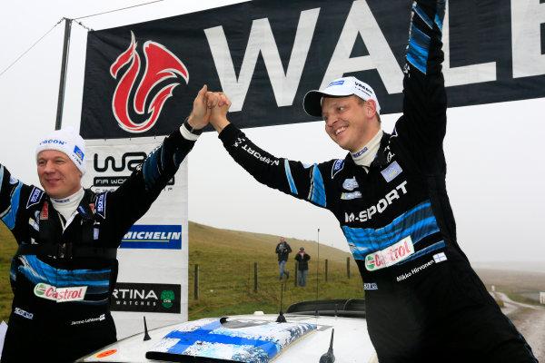 2014 World Rally Championship Wales Rally GB 13-16th November 2014 Mikko Hirvonen. Ford WRC. Podium Worldwide Copyright: McKlein/LAT