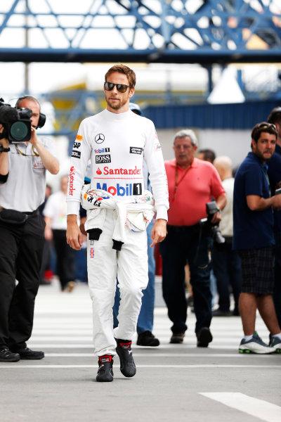 Interlagos, Sao Paulo, Brazil. Saturday 8 November 2014. Jenson Button, McLaren. World Copyright: Steven Tee/LAT Photographic. ref: Digital Image _L4R1317