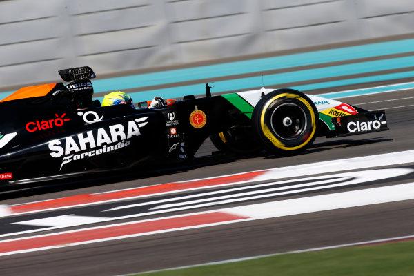 Yas Marina Circuit, Abu Dhabi, United Arab Emirates. Wednesday 26 November 2014. Spike Goddard, Force India VJM07 Mercedes.  World Copyright: Glenn Dunbar/LAT Photographic. ref: Digital Image _89P0189