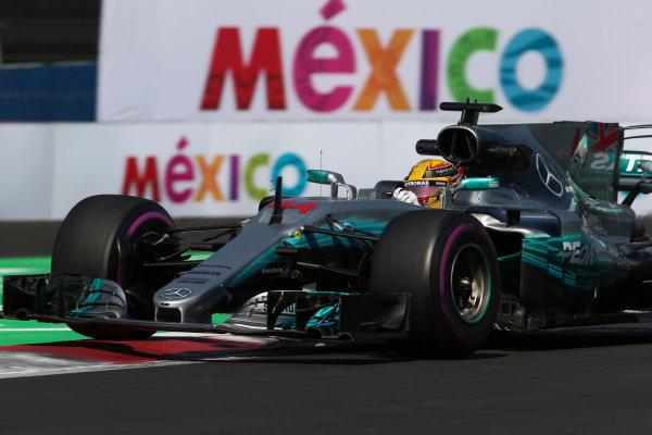 Autodromo Hermanos Rodriguez, Mexico City, Mexico. Friday 27 October 2017. Lewis Hamilton, Mercedes F1 W08 EQ Power+. World Copyright: Charles Coates/LAT Images  ref: Digital Image AN7T8500