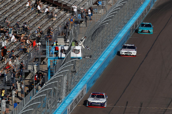 NASCAR XFINITY Series Ticket Galaxy 200 Phoenix Raceway, Avondale, AZ USA Saturday 11 November 2017 William Byron, Liberty University Chevrolet Camaro takes the checkered flag and win World Copyright: Michael L. Levitt LAT Images