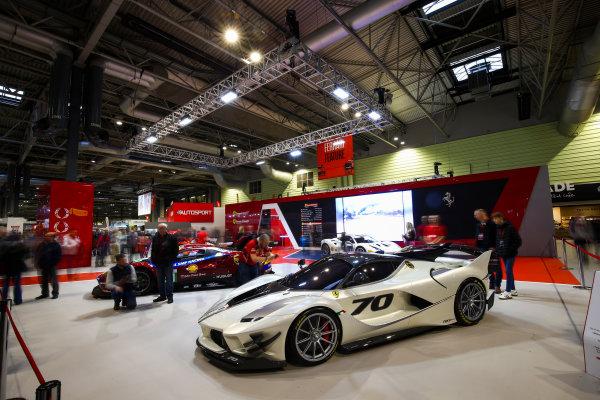 Autosport International Exhibition. National Exhibition Centre, Birmingham, UK. Sunday 14th January 2018. The Ferrari stand.World Copyright: Mike Hoyer/JEP/LAT Images Ref: AQ2Y9708