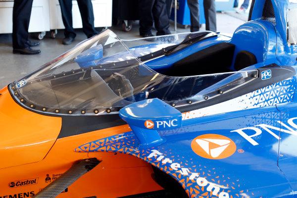 2018 Verizon IndyCar Series Phoenix testing Phoenix Raceway, Avondale, Arizona, USA Thursday 8 February 2018 Scott Dixon's car is outfitted with the new IndyCar windscreen World Copyright: Phillip Abbott/LAT Images  ref: Digital Image abbott_phxTest2018_0473