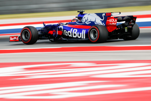 Circuit of the Americas, Austin, Texas, United States of America. Friday 20 October 2017. Brendon Hartley, Toro Rosso STR12 Renault. World Copyright: Glenn Dunbar/LAT Images  ref: Digital Image _31I2043