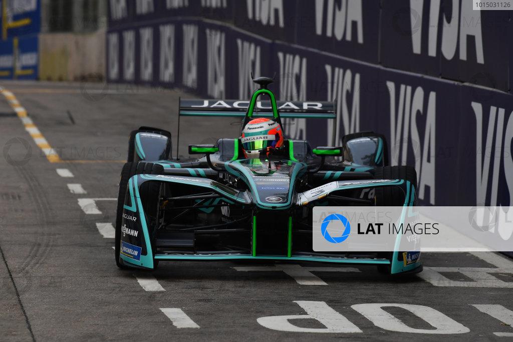 2017/2018 FIA Formula E Championship. Round 1 - Hong Kong, China. Saturday 02 December 2018. Nelson Piquet Jr. (BRA), Panasonic Jaguar Racing, Jaguar I-Type II. Photo: Mark Sutton/LAT/Formula E ref: Digital Image DSC_8470