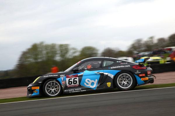 2017 British GT Championship, Oulton Park, 15th-17th April, 2017, Nick Jones / Scott Malvern - Team Parker Racing - Porsche Cayman GT4 Clubsport MR World copyright. JEP/LAT Images