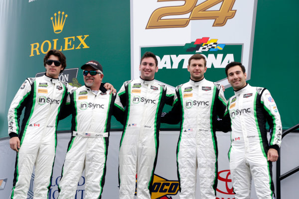 2017 Rolex 24 Hours. Daytona, Florida, USA Saturday 28 January 2017. #28 Alegra Motorsports Porsche 911 GT3 R: Daniel Morad, Jesse Lazare, Carlos de Quesada, Michael de Quesada, Michael Christensen World Copyright: Alexander Trienitz/LAT Images ref: Digital Image 2017-24h-Daytona-AT1-2997