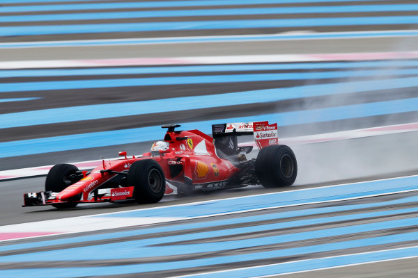 Paul Ricard, France. Tuesday 26 January 2016. Sebastian Vettel, Ferrari SF15-T. World Copyright: Steven Tee/LAT Photographic ref: Digital Image _L4R6585