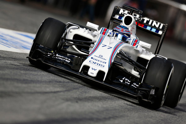 Circuit de Catalunya, Barcelona, Spain Monday 22 February 2016. Valtteri Bottas, Williams FW38 Mercedes. World Copyright: Alastair Staley/LAT Photographic ref: Digital Image _R6T7571