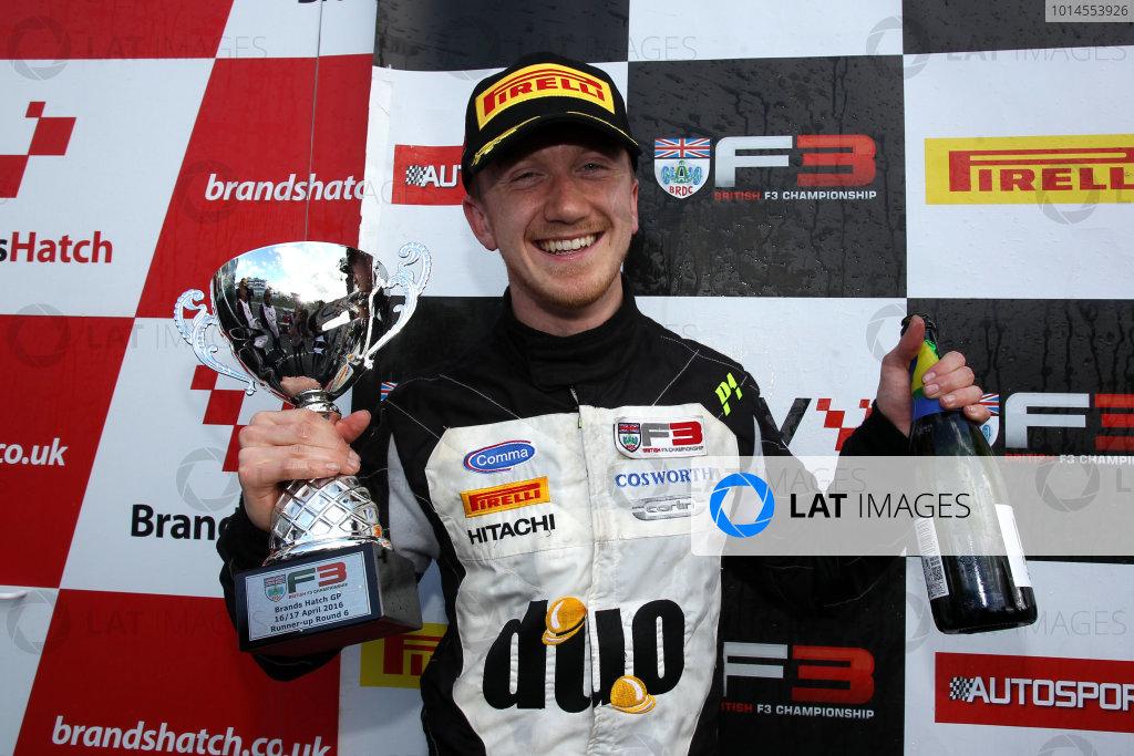 2016 BRDC British Formula 3 Championship, Brands Hatch, Kent. 16th - 17th April 2016. Ricky Collard (GBR) Carlin BRDC F3. World Copyright: Ebrey / LAT Photographic.