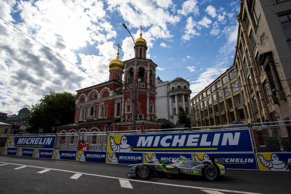 2014/2015 FIA Formula E Championship. Moscow ePrix, Moscow, Russia. Saturday 6 June 2015 Antonio Garcia (SPA)/China Racing - Spark-Renault SRT_01E. Photo: Zak Mauger/LAT/Formula E ref: Digital Image _L0U0498