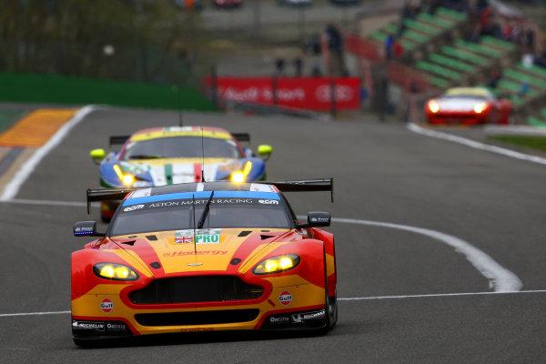 2015 FIA World Endurance Championship, Spa-Francorchamps, Belgium. 30th April - 2nd May 2015. Alex MacDowall / Fernando Rees / Richie Stanaway Aston Martin Racing Aston Martin Vantage V8. World Copyright: Ebrey / LAT Photographic.