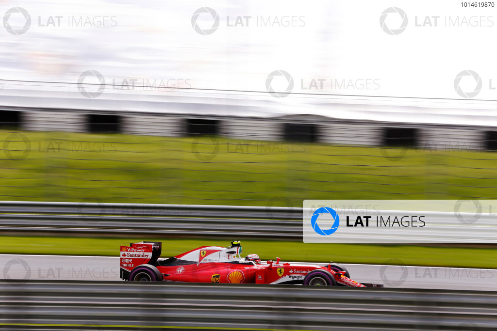 Red Bull Ring, Spielberg, Austria. Saturday 02 July 2016. Kimi Raikkonen, Ferrari SF16-H. World Copyright: Steven Tee/LAT Photographic ref: Digital Image _X0W3483