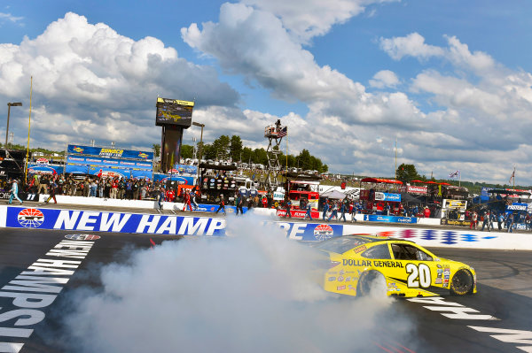 15-17 July, 2016, Loudon, New Hampshire USA Matt Kenseth, Dollar General Toyota Camry celebrates his win with a burnout ?2015, Nigel Kinrade LAT Photo USA