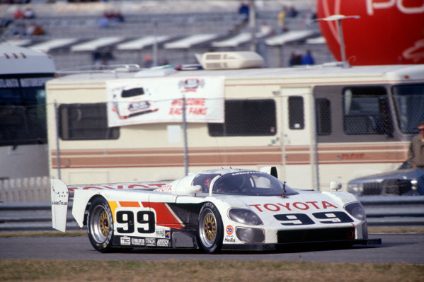 Daytona 24 hours, Florida, USA. 1st - 2nd February 1992.Juan-Manuel Fangio II/Andy Wallace/Kenny Acheson (Eagle MkIII Toyota), 11th position, action. World Copyright: LAT PhotographicRef: 92IMSADAY06