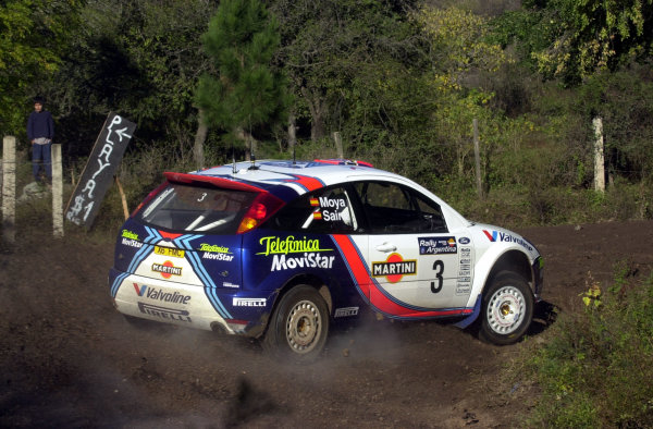 2001 World Rally Championship. ArgentinaMay 3rd-6th, 2001Carlos Sainz during shakedown.Photo: Ralph Hardwick/LAT