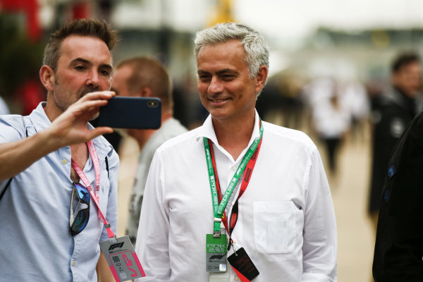 José Mourinho, Football Manager takes a selfie with a fan