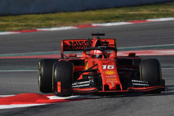 Charles Leclerc, Ferrari SF90 lifts a front wheel