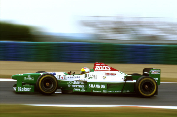 Magny-Cours, France.28-30 June 1996.Luca Badoer (Forti FG03 96 Ford) failed to finish due to fuel feed problems.Ref-96 FRA 17.World Copyright - LAT Photographic
