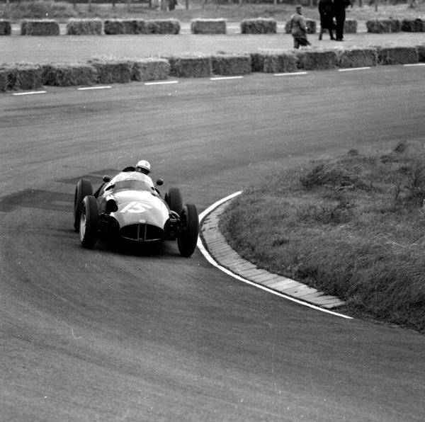 1958 Dutch Grand Prix.Zandvoort, Holland.24-26 May 1958.Harry Schell (BRM P25) 2nd position.Ref-2051.World Copyright - LAT Photographic