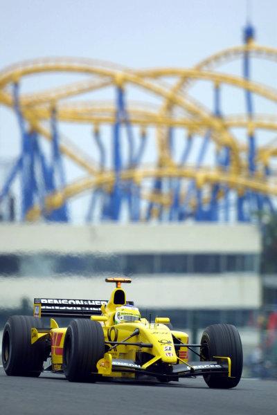 2002 Japanese Grand Prix.Suzuka, Japan. 11-13 October 2002.Giancarlo Fisichella (Jordan EJ12 Honda).World Copyright - LAT Photographicref: Digital File Only