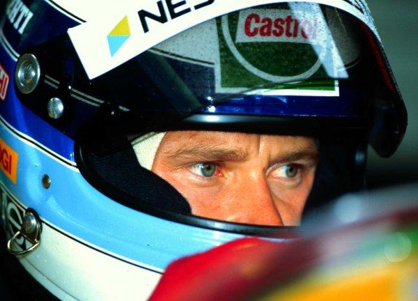 1992 British Grand Prix.Silverstone, England.10-12 July 1992.Mika Hakkinen (Lotus Ford) 6th position.World Copyright - LAT Photographic