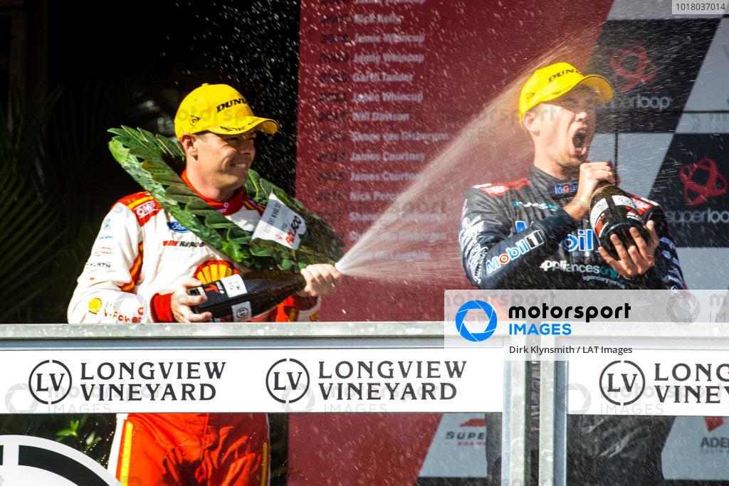 Scott McLaughlin, DJR Team Penske Ford, Chaz Mostert, Walkingshaw Andretti United Holden