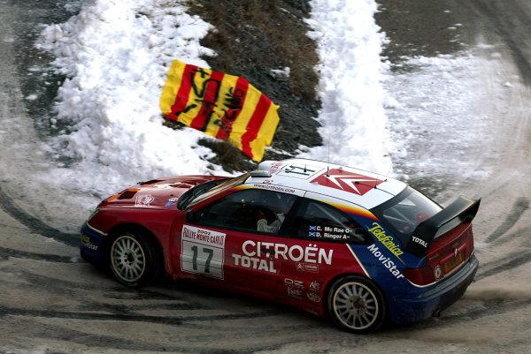 2003 FIA World Rally Championship. Monte Carlo, Monaco. Rd1.23-26 January 2003.Colin McRae/Derek Ringer (Citroen Xsara) 2nd position.World Copyright: McKlein/LAT Photographic