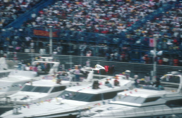 1990 Monaco Grand Prix.Monte Carlo, Monaco.25-27 May 1990.Ayrton Senna (McLaren MP4/5B Honda) 1st position.Ref-90 MON 01.World Copyright - LAT Photographic