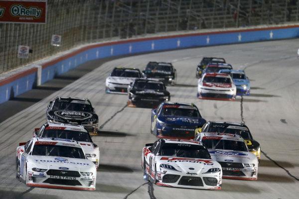 #00: Cole Custer, Stewart-Haas Racing, Ford Mustang Thompson Pipe Group #18: Harrison Burton, Joe Gibbs Racing, Toyota Supra Dex Imaging