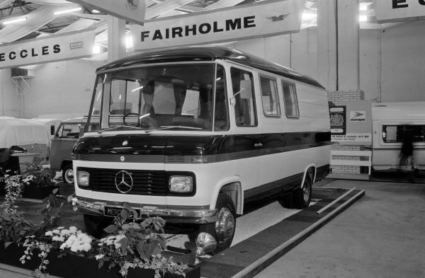 A Mercedes Benz based camping van.