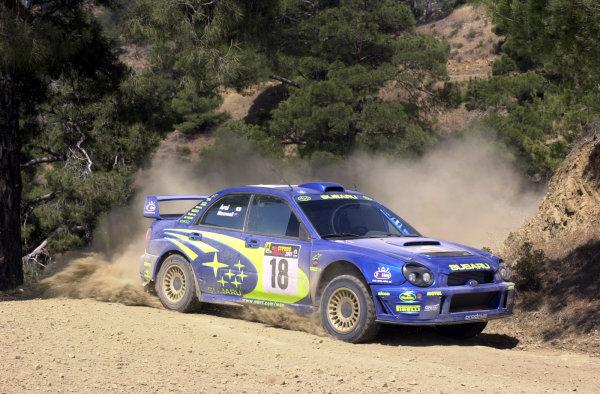 2001 World Rally ChampionshipCyprus Rally, June 1-3, 2001Toshihiro Arai on Stage 8Photo: Ralph Hardwick/LAT