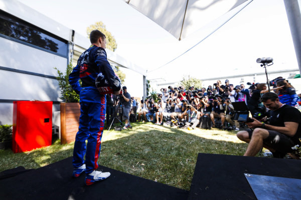 Daniil Kvyat, Toro Rosso during the Official Portrait shoot