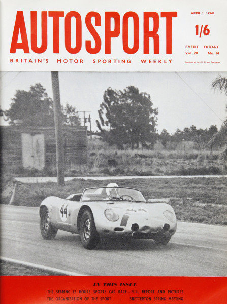Cover of Autosport magazine, 1st April 1960