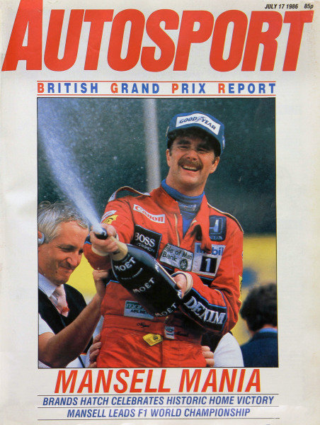 Cover of Autosport magazine, 17th July 1986