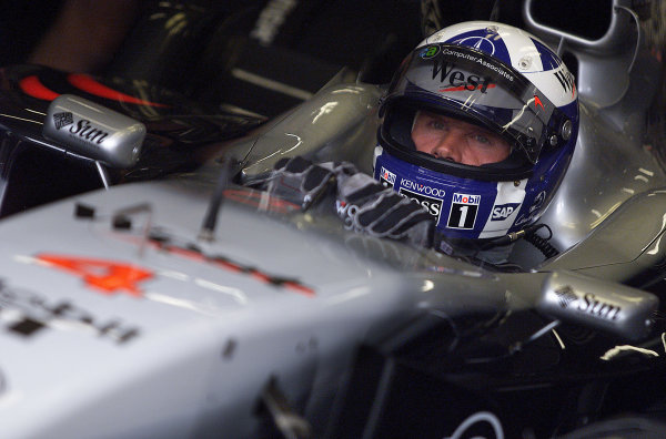 2001 Austrian Grand Prix.A1-Ring, Zeltweg, Austria.11-13 May 2001.David Coulthard (McLaren Mercedes) 1st position.World Copyright - Steve Etherington/LAT PhotographicRef:18mb Digital Image