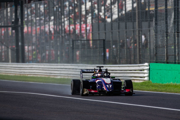 AUTODROMO NAZIONALE MONZA, ITALY - SEPTEMBER 08: Devlin DeFrancesco (CAN, Trident) during the Monza at Autodromo Nazionale Monza on September 08, 2019 in Autodromo Nazionale Monza, Italy. (Photo by Joe Portlock / LAT Images / FIA F3 Championship)